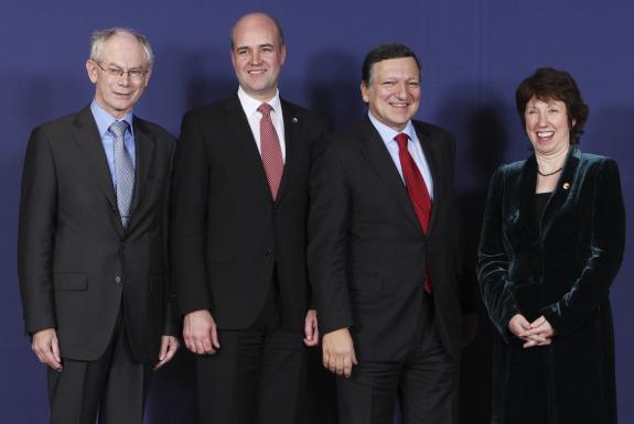 """Van Rompuy, el primero, y """"Cathy"""" Ashton, la última. Ambos desconocidos"""