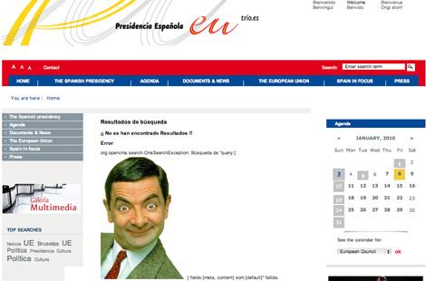 Mister Bean se convirtió, por un día, en protagonista de la presidencia española de la UE