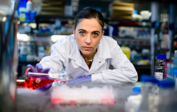 La investigadora Guadalupe Sabio, fotografiada por Dani Pozo.