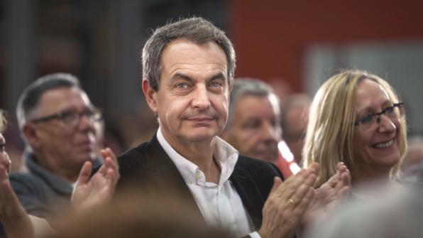 Zapatero, visto por Alberto Gamazo en Sabadell.
